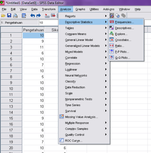 how to read descriptive statistics in spss